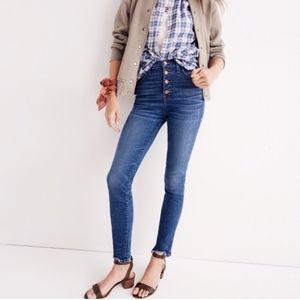 "Madewell 10"" High-Rise Skinny Jeans Drop-Hem 27"